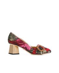 Escarpins en cuir à fleurs multicolores Dolce & Gabbana