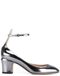 Escarpins en cuir argentés Valentino Garavani
