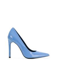 Escarpins en cuir bleu clair Calvin Klein Jeans