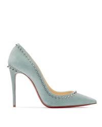 Escarpins en cuir bleu clair Christian Louboutin