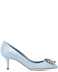 Escarpins en cuir bleu clair Dolce & Gabbana