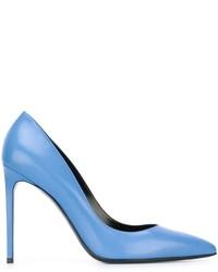 Escarpins en cuir bleu clair Saint Laurent