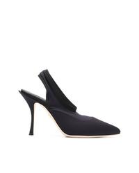 Escarpins en cuir bleu marine Dolce & Gabbana