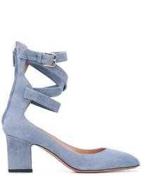 Escarpins en cuir bleus clairs Valentino Garavani