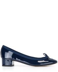 Escarpins en cuir bleus marine Repetto