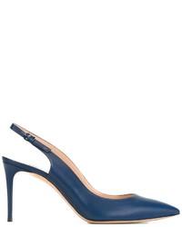 Escarpins en cuir bleus Casadei