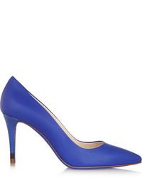 Escarpins en cuir bleus Fendi