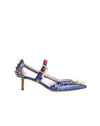 Escarpins en cuir bleus Gucci