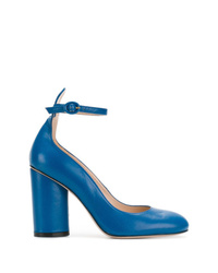 Escarpins en cuir bleus Stuart Weitzman
