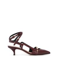 Escarpins en cuir bordeaux RED Valentino