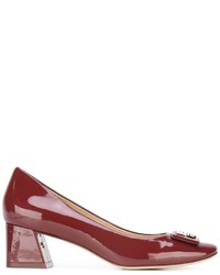 Escarpins en cuir bordeaux Tory Burch