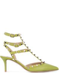 Escarpins en cuir chartreuses Valentino Garavani