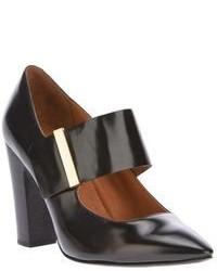 Escarpins en cuir découpés noirs See by Chloe