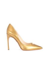 Escarpins en cuir dorés
