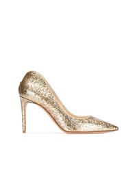 Escarpins en cuir dorés Alexander McQueen