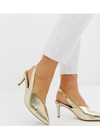 Escarpins en cuir dorés ASOS DESIGN