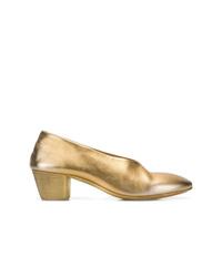 Escarpins en cuir dorés Marsèll