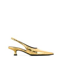 Escarpins en cuir dorés MM6 MAISON MARGIELA