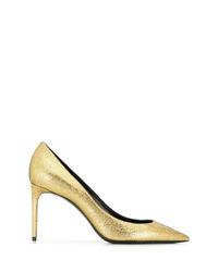Escarpins en cuir dorés Saint Laurent