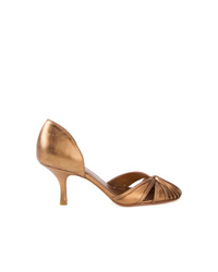 Escarpins en cuir dorés Sarah Chofakian
