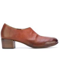 Escarpins en cuir épaisses marron