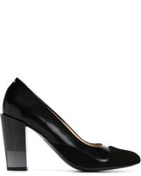 Escarpins en cuir épaisses noirs Aalto