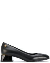 Escarpins en cuir épaisses noirs Baldinini