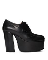 Escarpins en cuir épaisses noirs Gucci