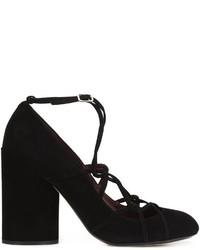 Escarpins en cuir épaisses noirs Marc Jacobs