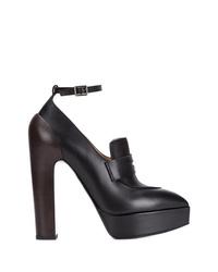 Escarpins en cuir épaisses noirs Vera Wang