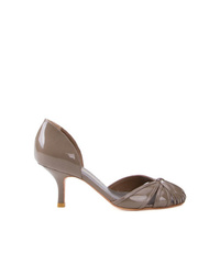 Escarpins en cuir gris Sarah Chofakian