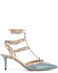 Escarpins en cuir gris Valentino Garavani