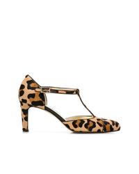 Escarpins en cuir imprimés léopard marron clair Antonio Barbato