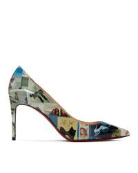 Escarpins en cuir imprimés multicolores Christian Louboutin