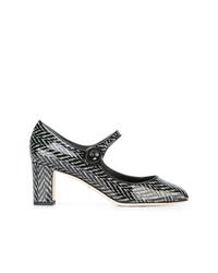 Escarpins en cuir imprimés noirs et blancs Dolce & Gabbana