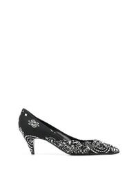 Escarpins en cuir imprimés noirs et blancs Saint Laurent