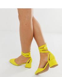 Escarpins en cuir jaunes ASOS DESIGN