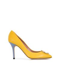 Escarpins en cuir jaunes Emilio Pucci