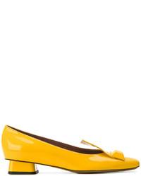 Escarpins en cuir jaunes