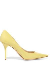 Escarpins en cuir jaunes Jimmy Choo