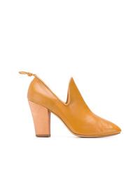 Escarpins en cuir jaunes Lemaire