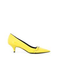Escarpins en cuir jaunes N°21