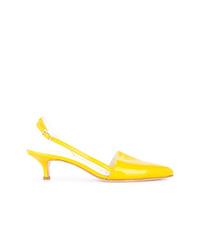 Escarpins en cuir jaunes Tibi