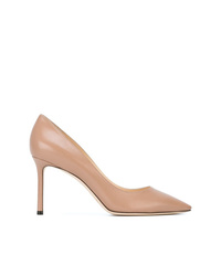 Escarpins en cuir marron clair Jimmy Choo