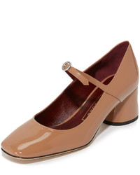 Escarpins en cuir marron clair Marc Jacobs