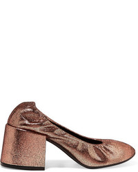 Escarpins en cuir marron clair MM6 MAISON MARGIELA