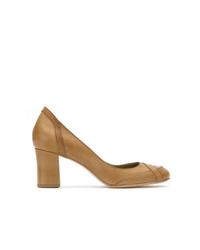 Escarpins en cuir marron Sarah Chofakian