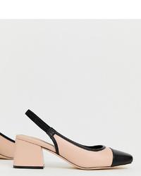 Escarpins en cuir noir et marron clair ASOS DESIGN