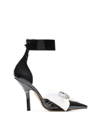 Escarpins en cuir noirs et blancs Midnight 00