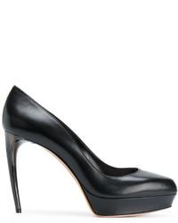 Escarpins en cuir noirs Alexander McQueen